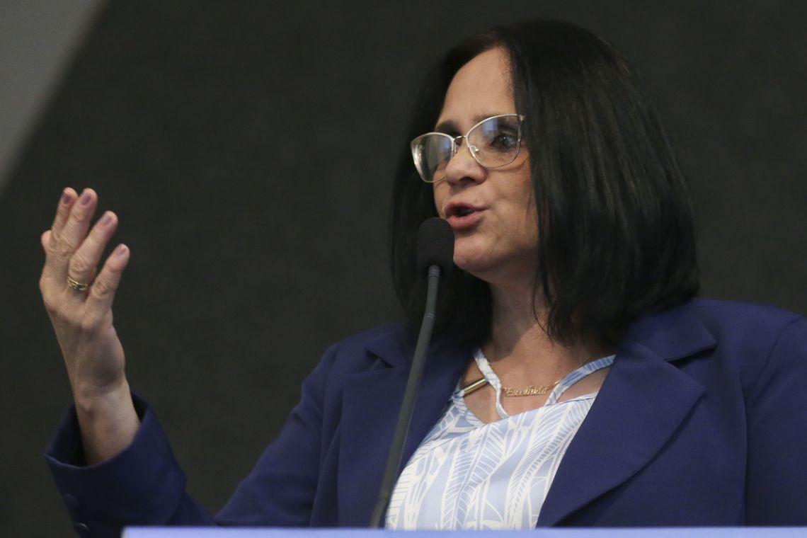 A ministra da Mulher, Família e Direitos Humanos, Damares Alves, participa da abertura do 6º Congresso Internacional sobre Liberdades Civis Fundamentais.