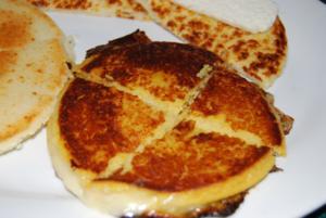 Arepa de queso. Colombia/Venezuelan food.