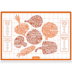 Tovolo Silicone Veggie Roasting Mat W/ Times & Seasonings, 16.5-Inch X 11.5-Inch