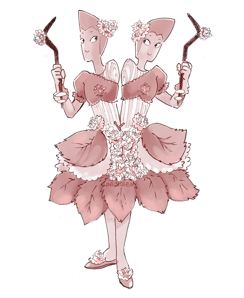 """""""30 Day Magical Girl Drawing Challenge - Day #5: Rose """" The Rutile twins are my favourite Off Colors! I can't help but think of this…"""