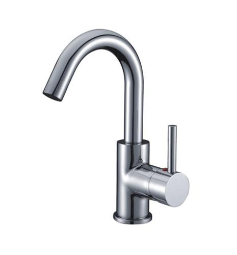 Rotate Waterfall Chrome Finish Bathroom Sink Faucets On