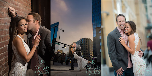 What awesome downtown Denver engagement session. Such a great couple!