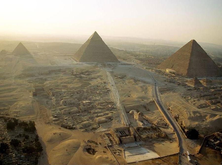 El complejo de la pirámide de Giza, Egipto