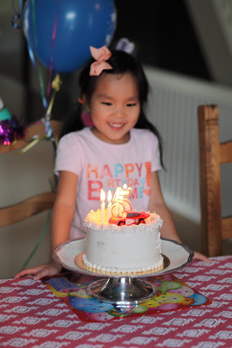 The birthday girl is FIVE!