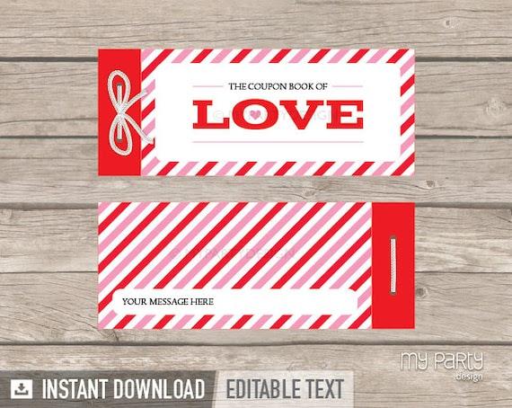 Love Coupon Book - Valentine