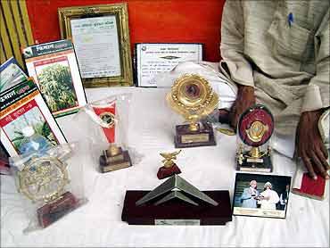 Some awards won by Prakash Singh.