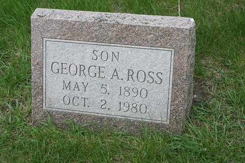 Tombstone of George A. Ross