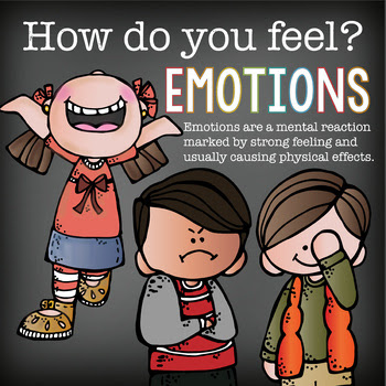 EMOTIONS - Posters and Writing Worksheet