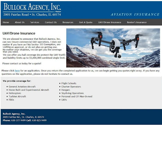 Insurance for Unmanned Aerial Vehicles / Drones #Drones #UAS #UAV