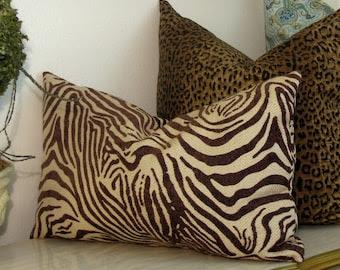 Popular items for zebra lumbar pillow on Etsy