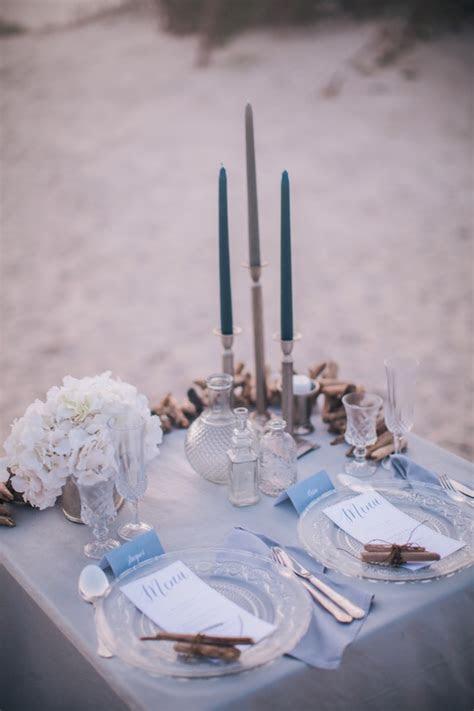 Misty, Moody, Cerulean Blue and Pewter Beach Wedding
