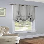 Thermalogic Prescott Alcove Insulating Room Darkening Fabric 40 X 63 Tie Up Panel Gray