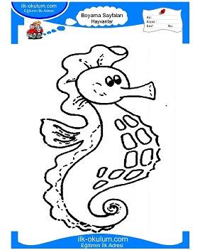 Denizatı Boyama Sayfası Okulöncesitr L Preschool