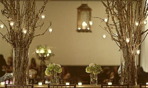 Led hanging lantern lights, rustic tree branch wedding