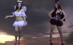 Nana Gouvêa em seu novo vídeo: anjinha e malvada (Foto: YouTube / Reprodução)