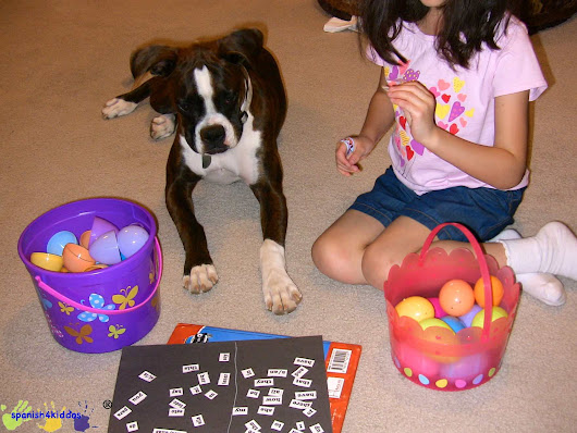 Easter egg learning activity - Spanish4Kiddos Tutoring Services