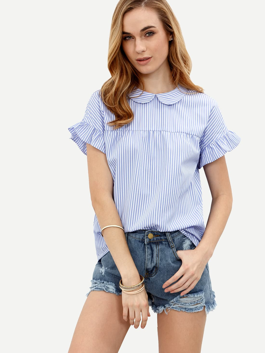 http://www.shein.com/Blue-Striped-Peter-Pan-Collar-Short-Sleeve-Blouse-p-292929-cat-1733.html?aff_id=8630