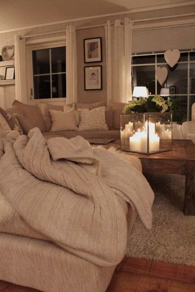 Looks a lot like our couch color... Nice clean neutral color idea