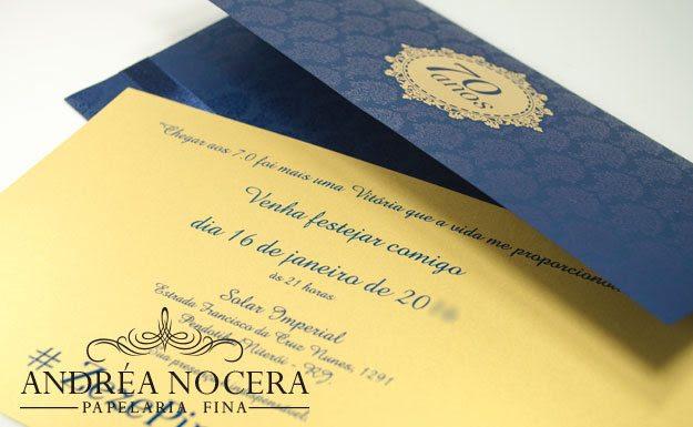 Convite De 70 Anos Atelier Andrea Nocera