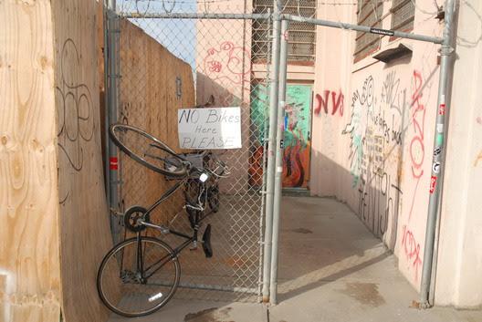 No Bikes Here Please