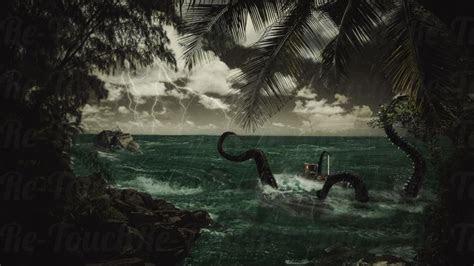 kraken ship wreck  wallpaper  hot desktop