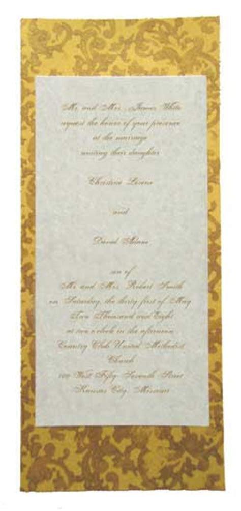 Gold Custom wedding invitation   Making Invitations