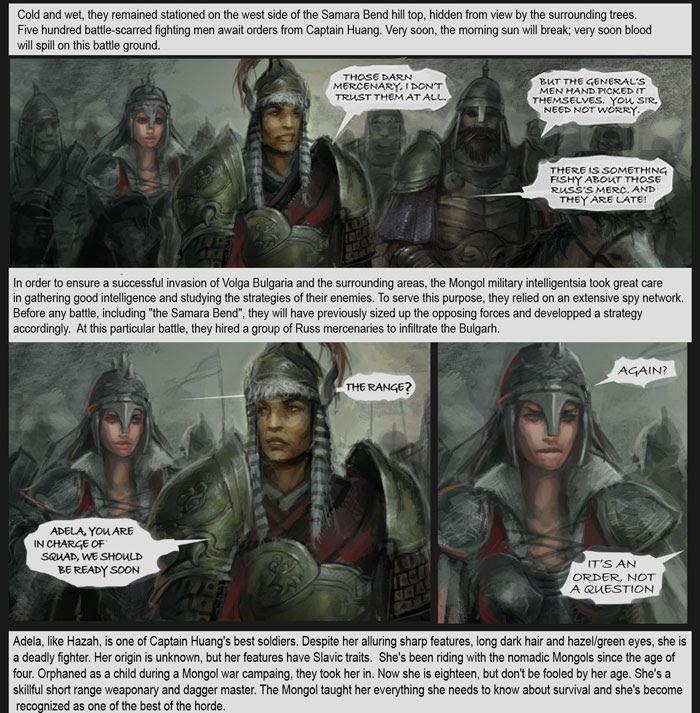 khan, mongol, online comic, comic, comics, xia taptara, genghis, dogs of war, knight, warrior