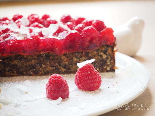 Glutenfreier Rawsberry Chocolate Cake - Tea and Scones