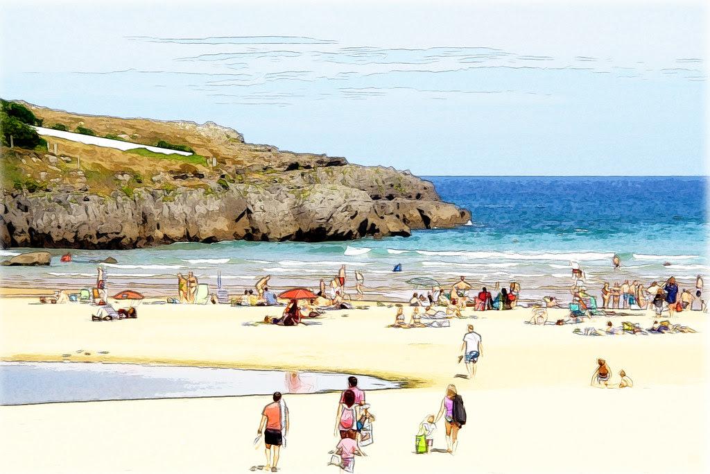 la playa en Ajo