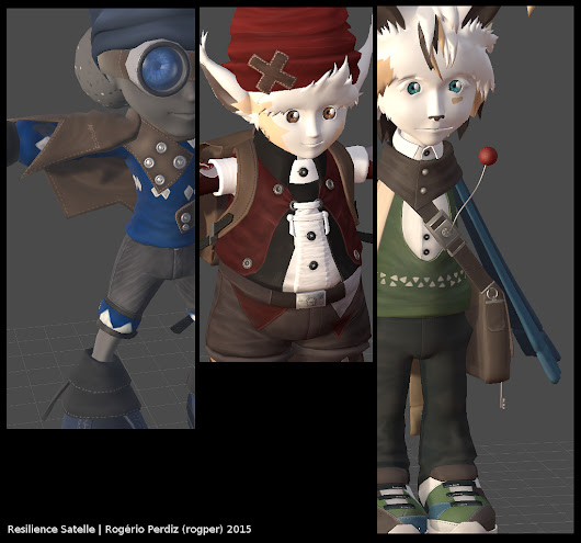The Main Characters are Modeled and Textured