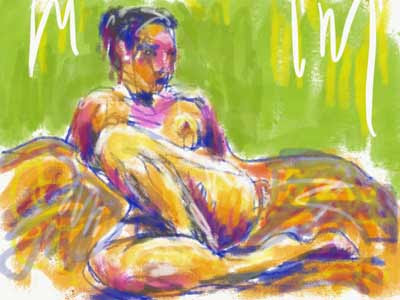 Life drawing with Adobe Sketch painting app - Figurative Artist