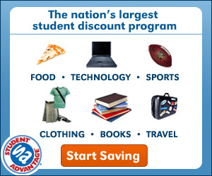 Click Here to Start Saving with Student Advantage!