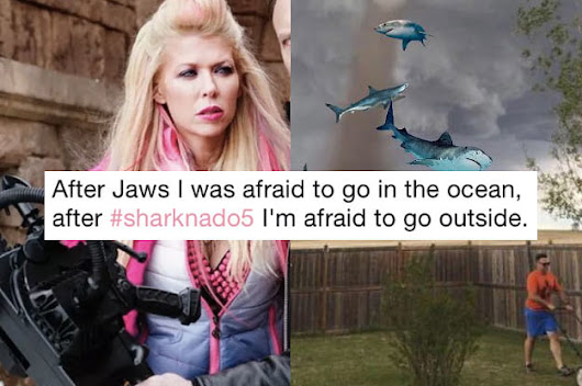 "17 Hilarious ""Sharknado 5"" Tweets That Are Too Good To Be True"