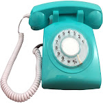 Cortelco 500AQA Rotary Phone Aqua