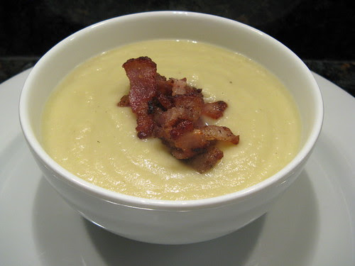 celeriac soup with bacon