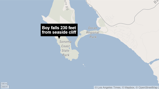 Boy, 4, survives 230-foot fall from cliff in Northern California