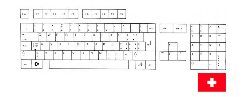 Teclado Suizo Amiga 500
