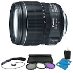 Canon EF-S 15-85mm f/3.5-5.6 IS USM Standard Zoom Lens W/ 72mm Filter & Accy Kit