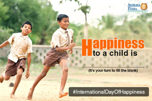 On This Day of Happiness It's Your Turn to Make a Child Happy!