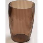 Carnation Home Brown, Rib-Textured Waste Basket