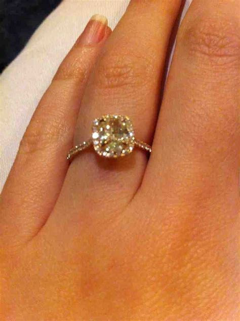 ?ushion ?ut Canary Diamond Engagement Rings   Cushion Cut
