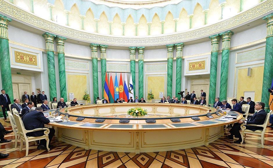 Supreme Eurasian Economic Council meeting inexpanded format.