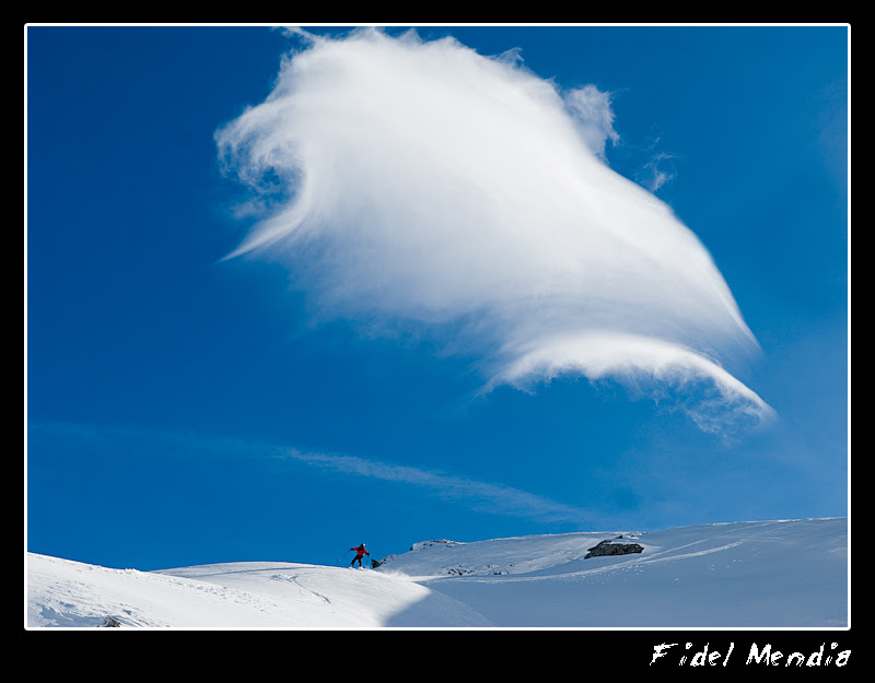 bajando con nube
