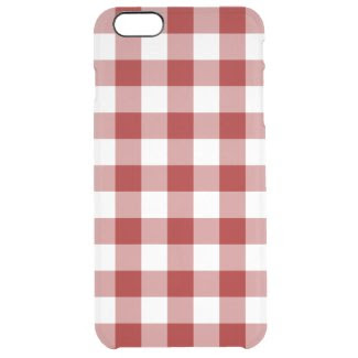 Red and Transparent Gingham Uncommon Clearly™ Deflector iPhone 6 Plus Case