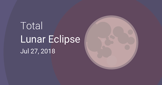 Total Lunar Eclipse on July 27–28, 2018 – Where and When to See