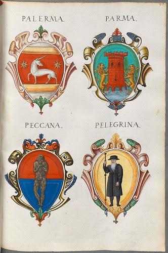 Familienwappen kleinerer Adelshäuser von Verona mit Buchstaben h