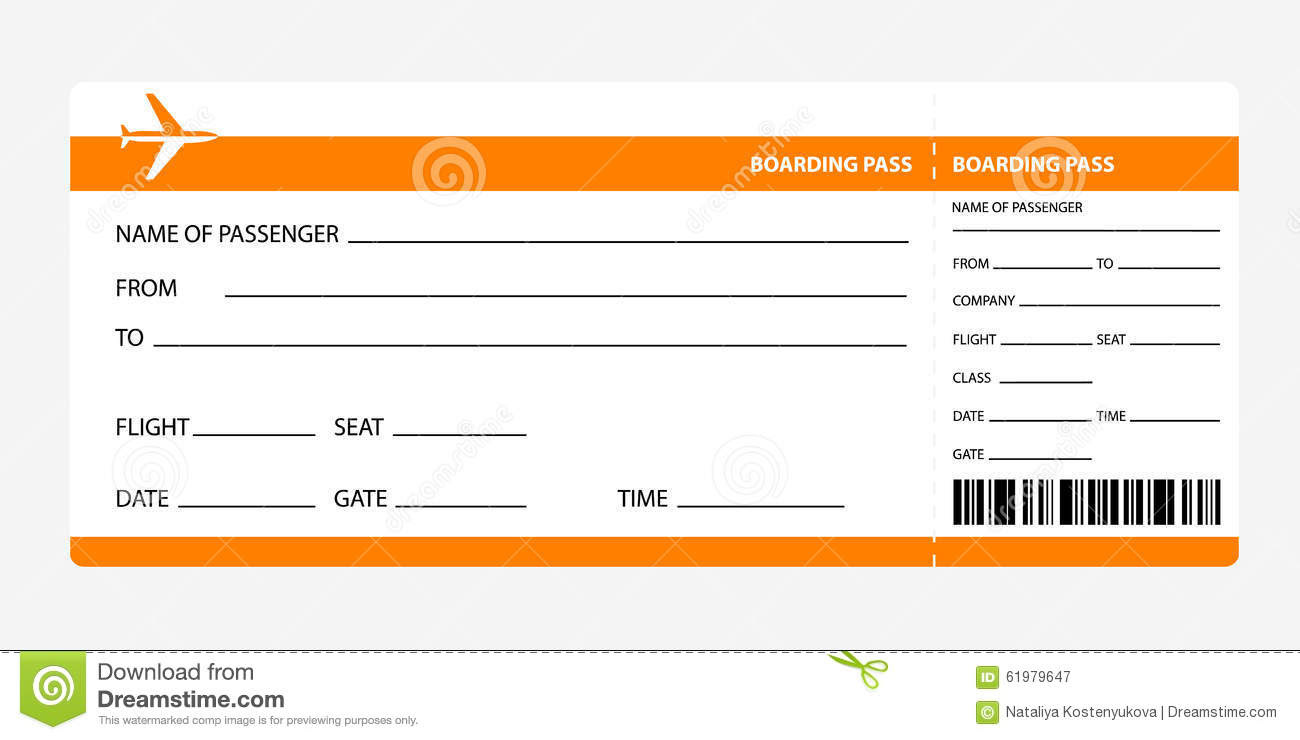 Editable Boarding Pass - Calendar June