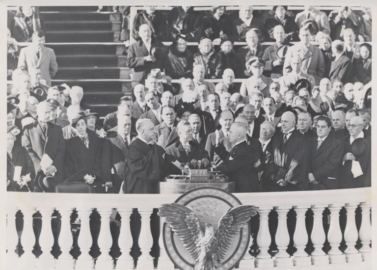 Toma de posesión del presidente Harry S. Truman.