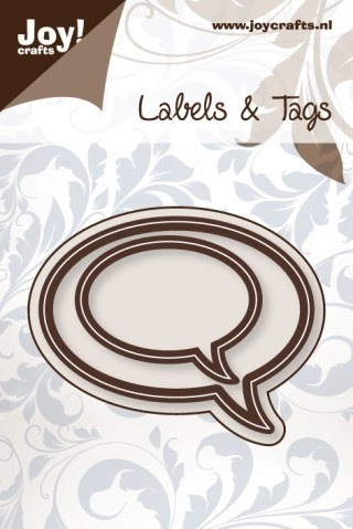 Joy! Crafts - Noor! Design - Labels en Tags - Tekstballon rond