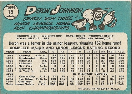 Deron Johnson (back) by you.